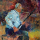 Woking Art Gallery - Music Collection - The Basoon Player - Painting by Horsell Woking Surrey Artist Sera Knight