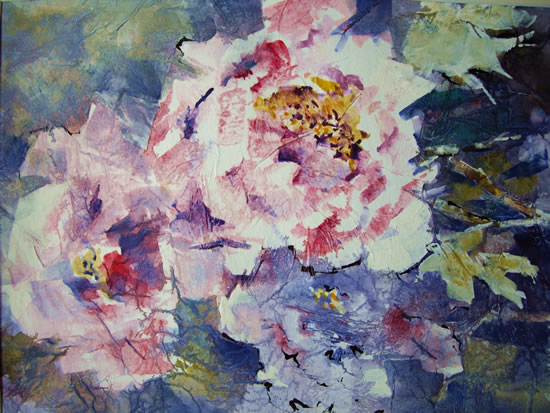 Flora Painting of Flowers by Horsell Woking Surrey Artist Sera Knight