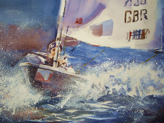 GBR Sailing - Boats Gallery of Paintings by Horsell Woking Surrrey Artist Sera Knight
