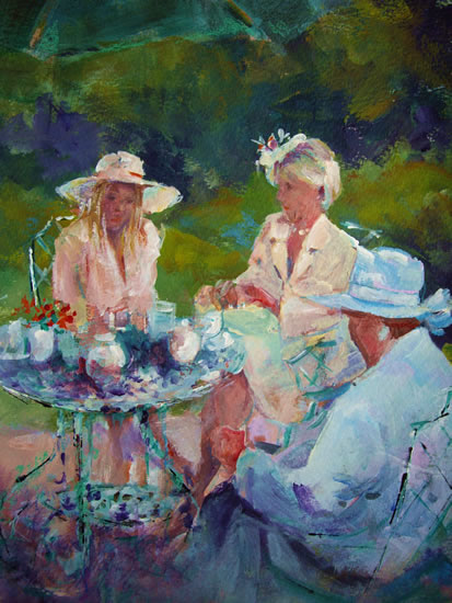 Painting of Ladies by Horsell Woking Surrey Artist Sera Knight