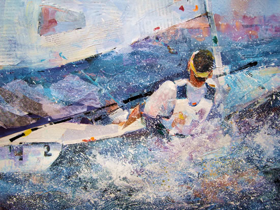 Sailor - Boats Gallery of Paintings by Horsell Woking Surrrey Artist Sera Knight