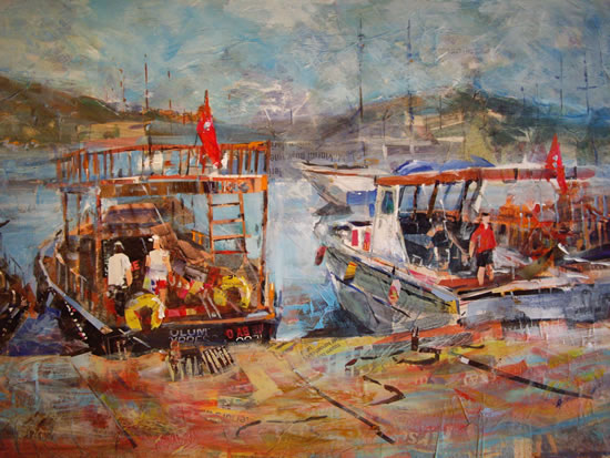 Boats Art Gallery -Turkish Touring Boats In The Mediterranean Sea