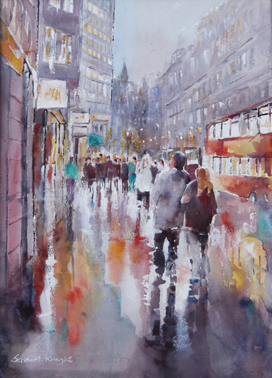 Rainy Day in London - Cities & London Art Gallery