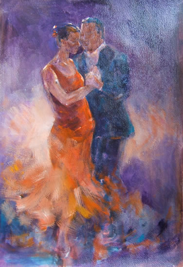 Tango - Tango Dancers - Ballet & Dance Collection of paintings by Artist Sera Knight - Horsell, Woking Surrey England