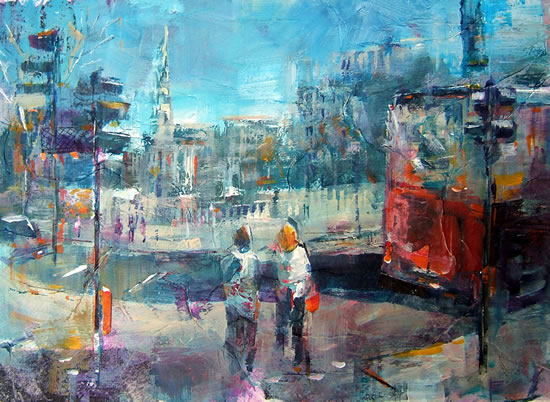 Traffic-Lights Painting by Horsell Woking Surrey Artist Sera Knight