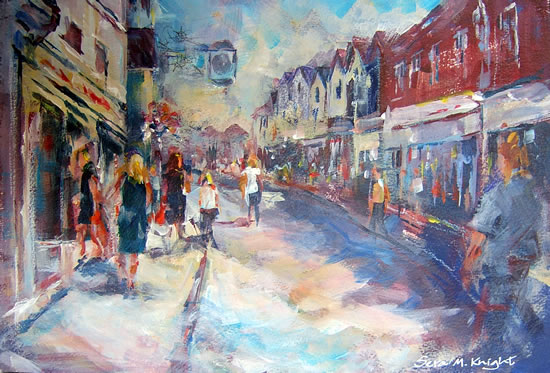 The Clock Painting by Horsell Woking Surrey Artist Sera Knight