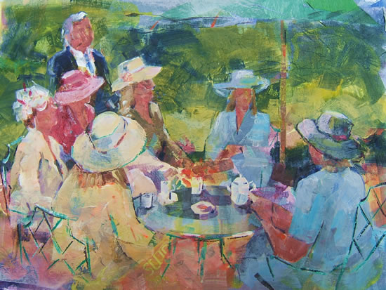 Teatime Painting by Horsell Woking Surrey Artist Sera Knight