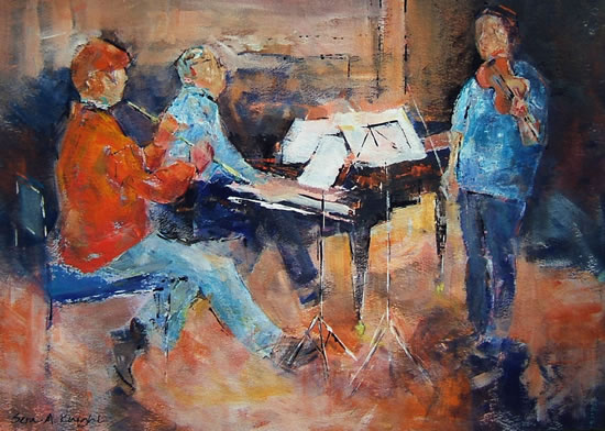 Woking Art Gallery - Classical Musicians at Rehearsal