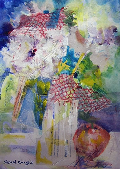 Flowers - Painting by Woking Surrey Artist Sera Knight
