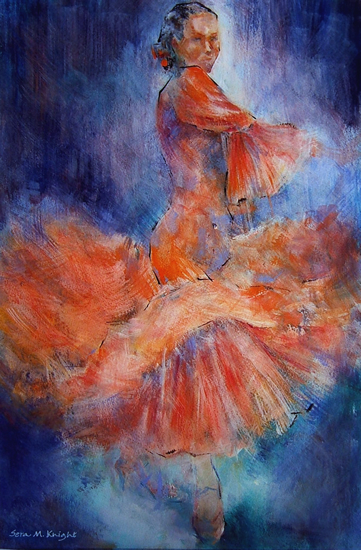 Flamenco Dancer - Gallery of Dance Paintings by Woking Surrey Artist Sera Knight