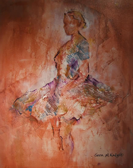 Ballet Dancer 39 - Gallery of Dance Paintings by Woking Surrey Artist Sera Knight
