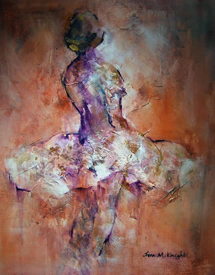 Ballet Dancer 40 - Gallery of Dance Paintings by Woking Surrey Artist Sera Knight