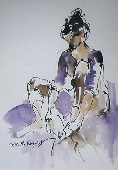 Ballet Dancer 41 - Gallery of Dance Paintings by Woking Surrey Artist Sera Knight - Ballet Shoes