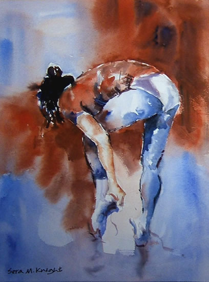 Before The Dance Performance - Ballet Dancer - Ballet & Dance Collection of Art by Horsell Woking Surrey Artist Sera Knight
