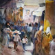 Woking Art Gallery - Street Scene Collection - Turkish Market  - Painting by Horsell Woking Surrey Artist Sera Knight
