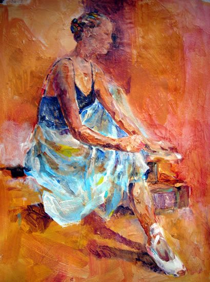 Ballet Dancer - Art by Sera Knight - Surrey Artist