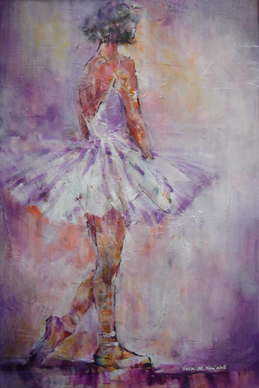 Stage Lights 2 - Ballerina - Ballet & Dancers Gallery of Paintings by Surey Artist Sera Knight - Horsell Woking England