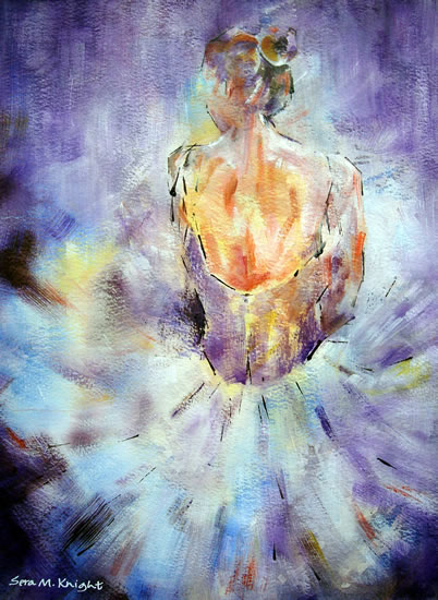 Art by Sera Knight - Ballet Dancer - Her paintings of dancers have been made into a fundraising calendar for 2009 in USA