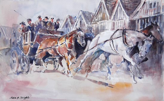 Art Gallery - Stagecoach Painting